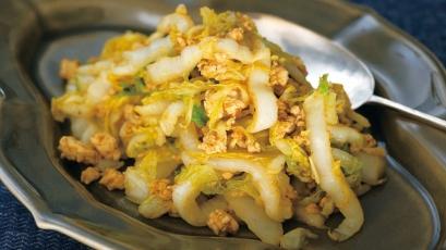 【今日の料理】【今日の料理】白菜のカレーバターじょうゆ炒め