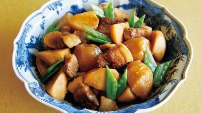【今日の料理】【今日の料理】里芋と豚の照り煮