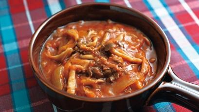 【今日の料理】【今日の料理】たっぷりきのこのデミグラス風煮込み