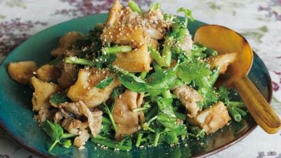 【今日の料理】【今日の料理】れんこんと豚肉のオイスター黒酢炒め