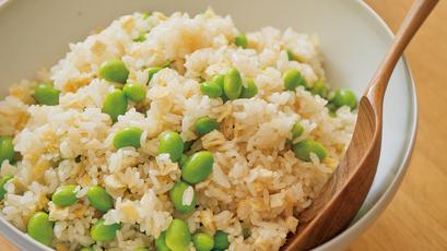 【今日の料理】【今日の料理】枝豆と油揚げの炊き込みご飯