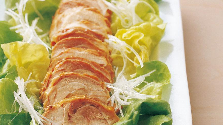鶏ロール蒸しレモンジンジャーソース レシピ 渡辺 あきこさん|【みんなのきょうの料理】おいしいレシピや献立を探そう
