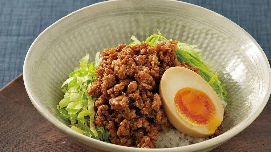 肉みそ丼 しょうゆ卵のせ レシピ 大原 千鶴さん|【みんなのきょうの料理】おいしいレシピや献立を探そう