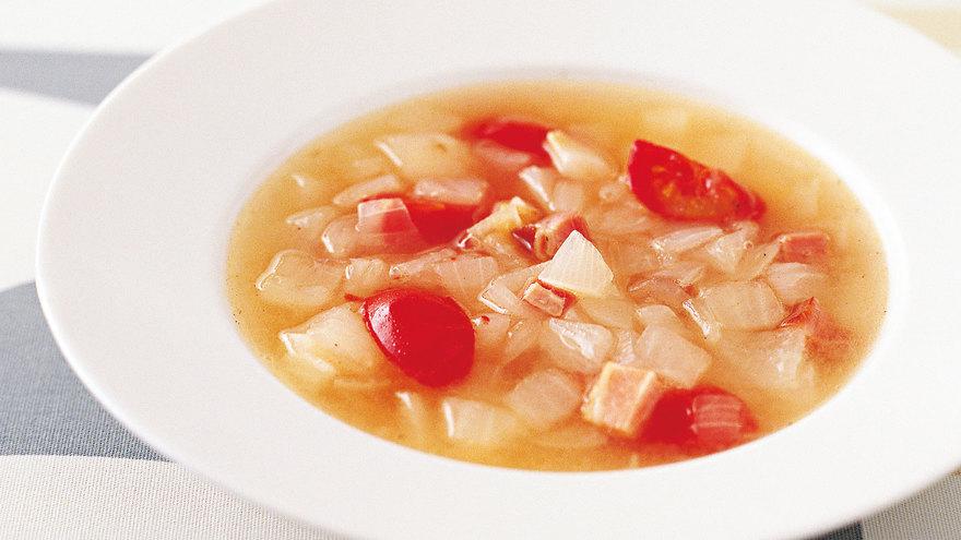 新たまねぎとベーコンのスープ レシピ 牧野 直子さん|【みんなのきょうの料理】おいしいレシピや献立を探そう