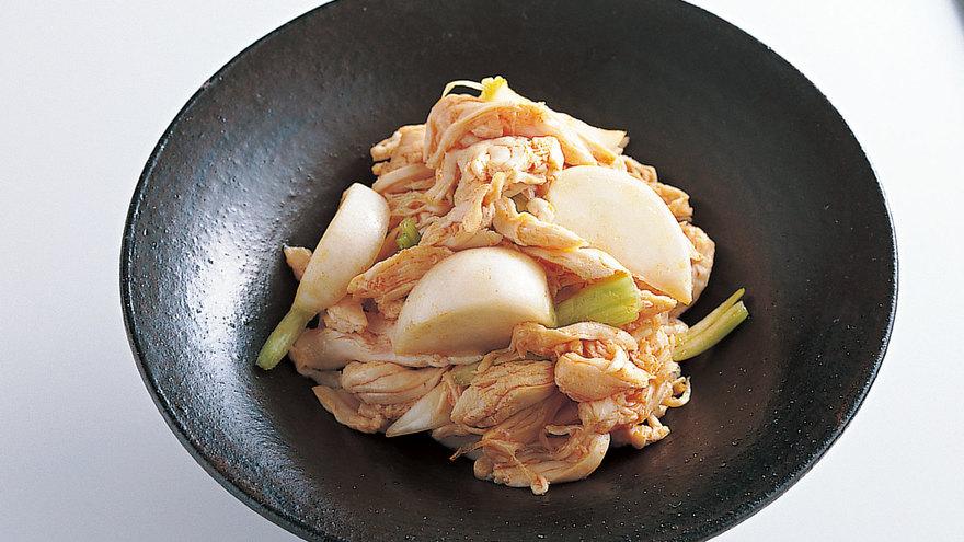 鶏ささ身とかぶのあえ物 レシピ 菰田 欣也さん|【みんなのきょうの料理】おいしいレシピや献立を探そう
