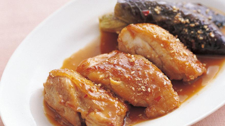 鶏肉となすのごまだれ煮 レシピ 尾身 奈美枝さん|【みんなのきょうの料理】おいしいレシピや献立を探そう