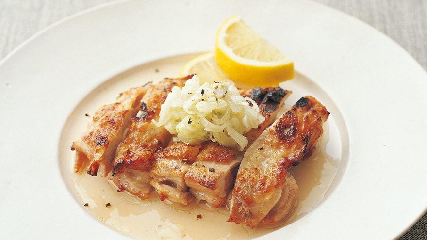 鶏肉のグリルらっきょう塩だれ レシピ 枝元 なほみさん|【みんなのきょうの料理】おいしいレシピや献立を探そう
