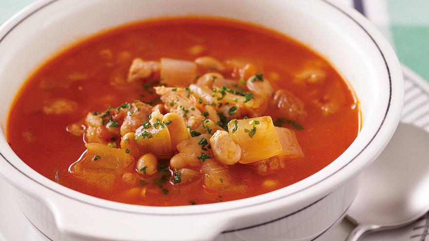 納豆と豚肉のトマトスープ レシピ 脇 雅世さん|【みんなのきょうの料理】おいしいレシピや献立を探そう