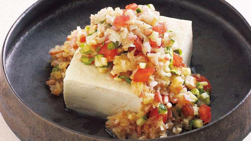 香り野菜のせ冷ややっこ レシピ 西部 るみさん|【みんなのきょうの料理】おいしいレシピや献立を探そう
