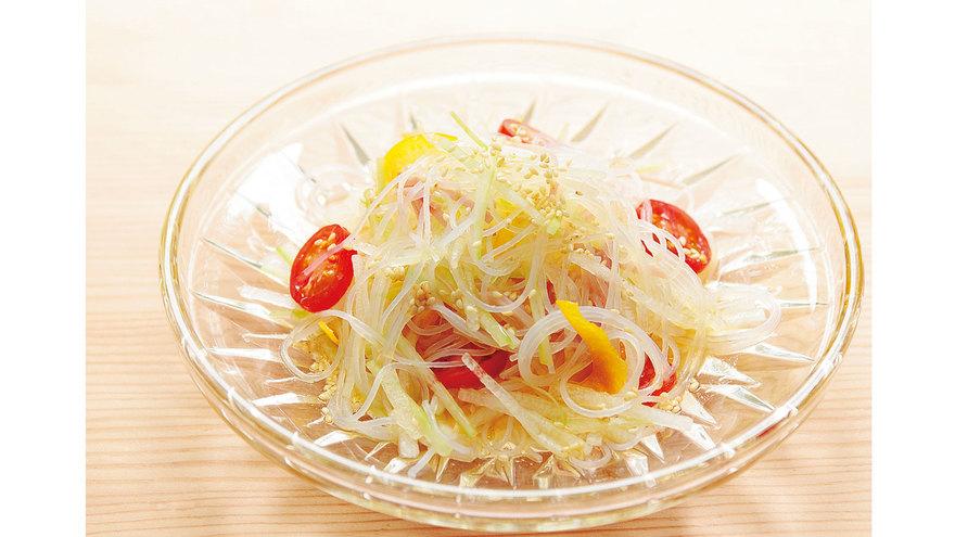 とうがんとハムの春雨サラダ レシピ 杉本 節子さん|【みんなのきょうの料理】おいしいレシピや献立を探そう