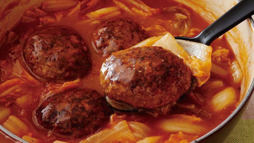 白菜たっぷり煮込みハンバーグ レシピ 枝元 なほみさん 【みんなのきょうの料理】おいしいレシピや献立を探そう