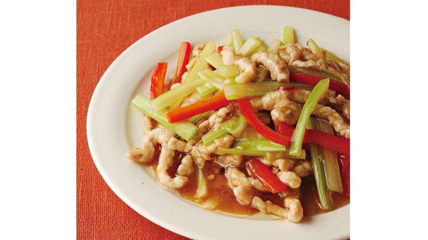 セロリと豚肉の細切り炒め レシピ 山本 麗子さん 【みんなのきょうの料理】おいしいレシピや献立を探そう