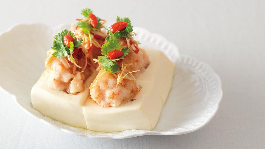 豆腐のえび蒸し レシピ パン・ウェイさん|【みんなのきょうの料理】おいしいレシピや献立を探そう