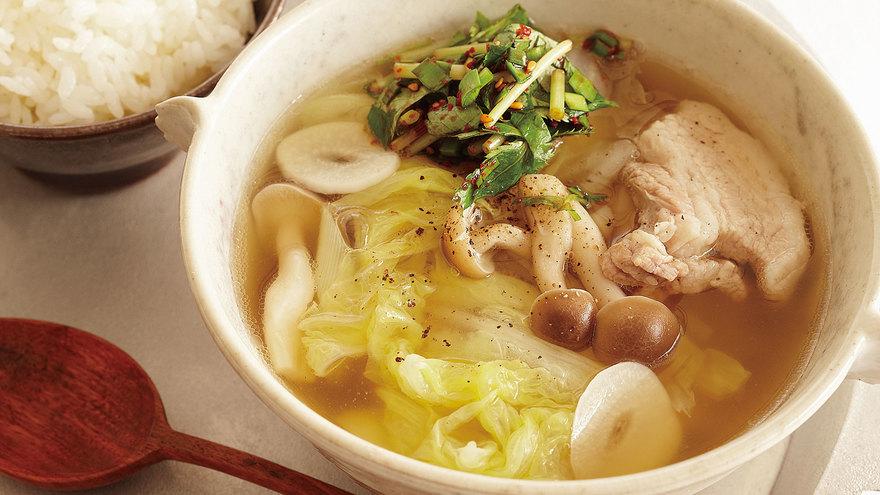 白菜と豚バラ肉のクッパ レシピ コウ ケンテツさん 【みんなのきょうの料理】おいしいレシピや献立を探そう