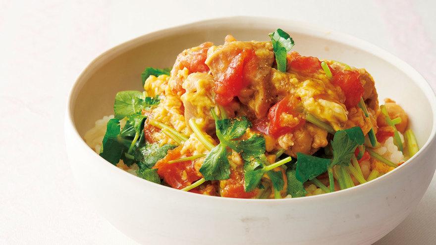 トマトの親子丼 レシピ 斉藤 辰夫さん|【みんなのきょうの料理】おいしいレシピや献立を探そう