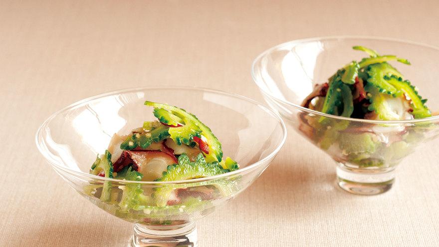 ゴーヤーとたこの酢の物 レシピ 田口 成子さん|【みんなのきょうの料理】おいしいレシピや献立を探そう