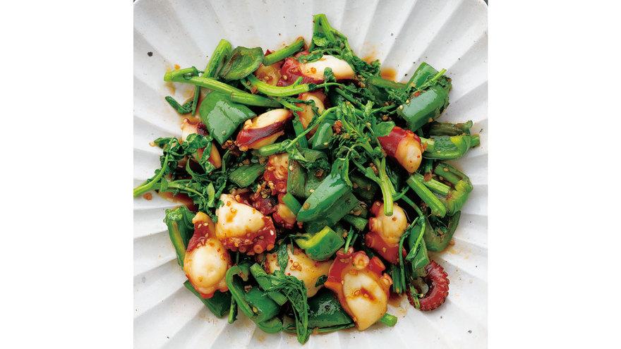 ピーマンとたこのピリ辛炒め レシピ コウ 静子さん|【みんなのきょうの料理】おいしいレシピや献立を探そう
