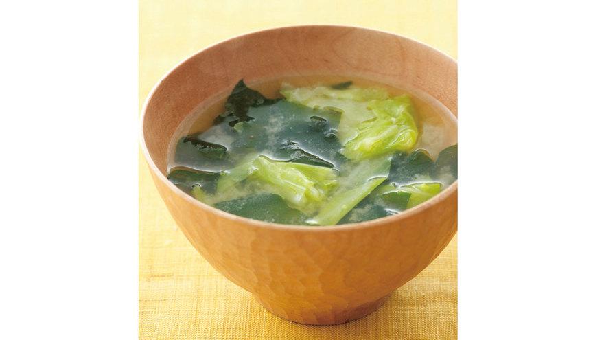 キャベツとわかめのみそ汁 レシピ 後藤 加寿子さん|【みんなのきょうの料理】おいしいレシピや献立を探そう