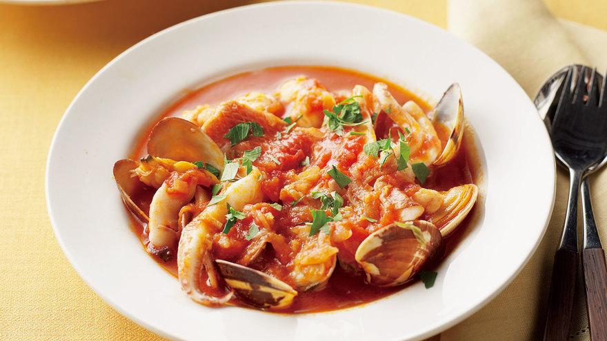 魚介のトマトスープ煮 レシピ 落合 務さん|【みんなのきょうの料理】おいしいレシピや献立を探そう