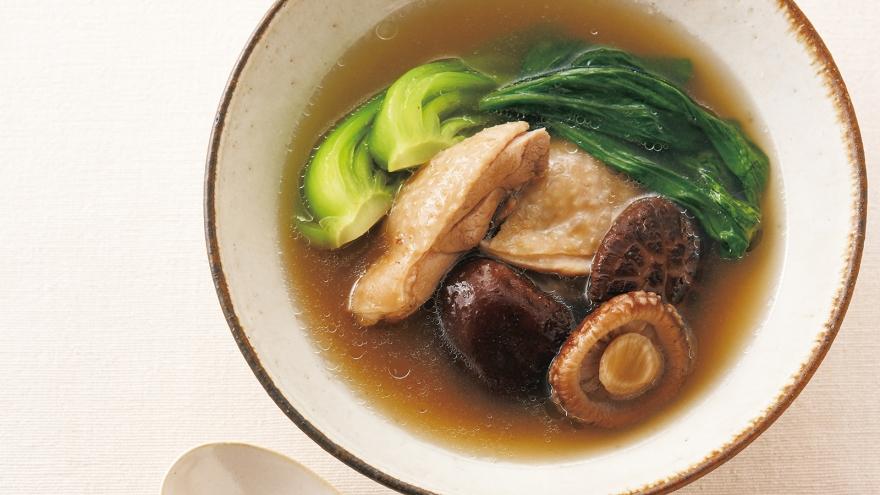 鶏肉と干ししいたけのスープ レシピ 河野 雅子さん|【みんなのきょうの料理】おいしいレシピや献立を探そう