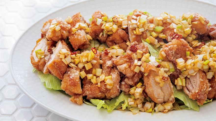 揚げ鶏のねぎソース レシピ 栗原 はるみさん|【みんなのきょうの料理】おいしいレシピや献立を探そう