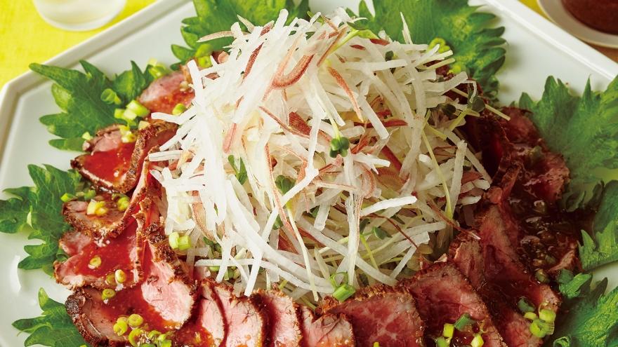 フライパン和風ローストビーフサラダ レシピ Makoさん