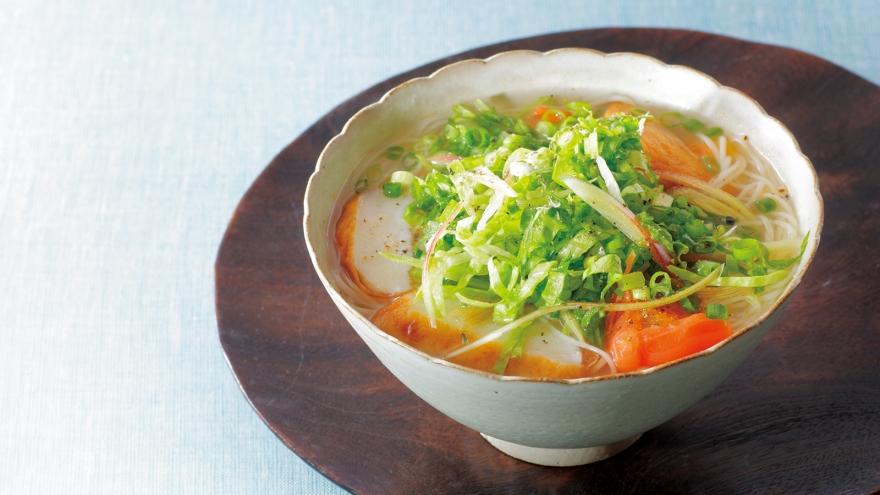 さつま揚げとシャキシャキ野菜のにゅうめん レシピ 高谷 亜由さん|【みんなのきょうの料理】おいしいレシピや献立を探そう