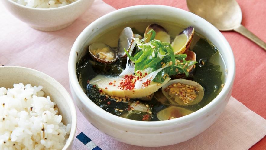 あさりの韓国スープ