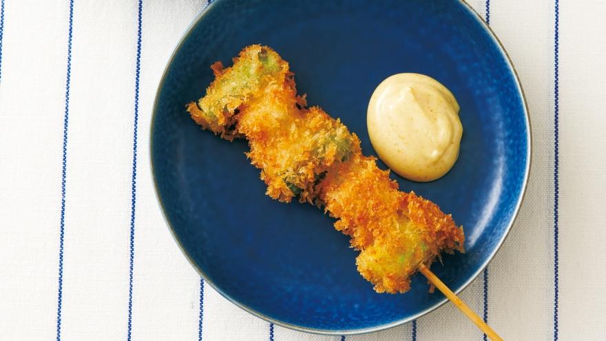 アスパラと豚こまの串カツ レシピ 河野 雅子さん|【みんなのきょうの料理】おいしいレシピや献立を探そう