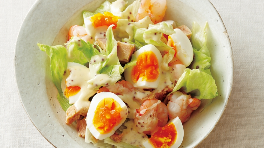 ゆで卵とえびのサラダ レシピ 河野 雅子さん |【みんなのきょう