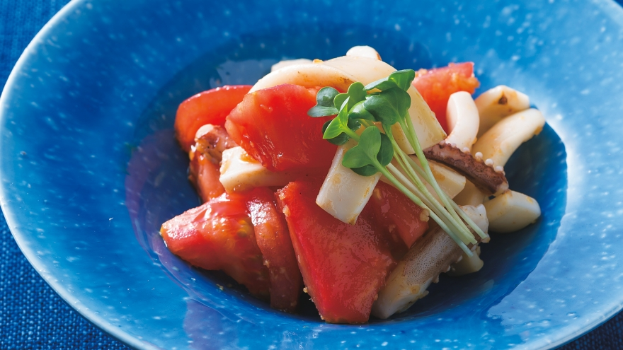 焼きいかのトマトしょうがじょうゆ レシピ 大原 千鶴さん|【みんなのきょうの料理】おいしいレシピや献立を探そう