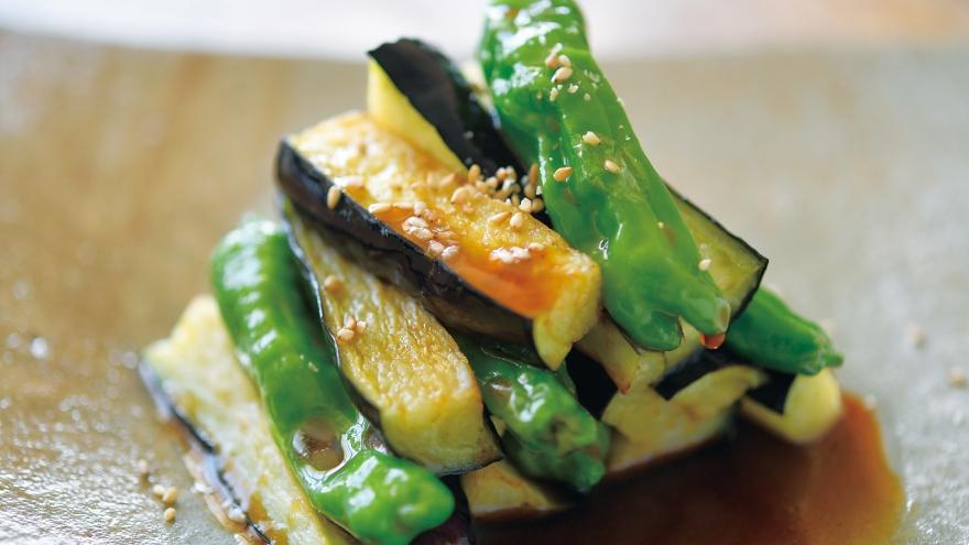 揚げ野菜の黒酢がけ レシピ どい ちなつさん|【みんなのきょうの料理】おいしいレシピや献立を探そう