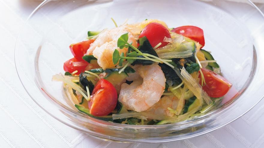 焼きえびの和風サラダ レシピ 大原 千鶴さん|【みんなのきょうの料理】おいしいレシピや献立を探そう
