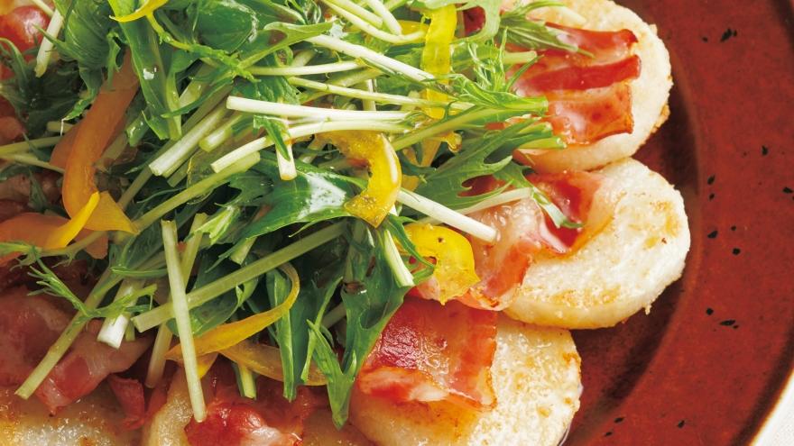 長芋とベーコンのソテー レシピ 河野 雅子さん 【みんなのきょうの料理】おいしいレシピや献立を探そう