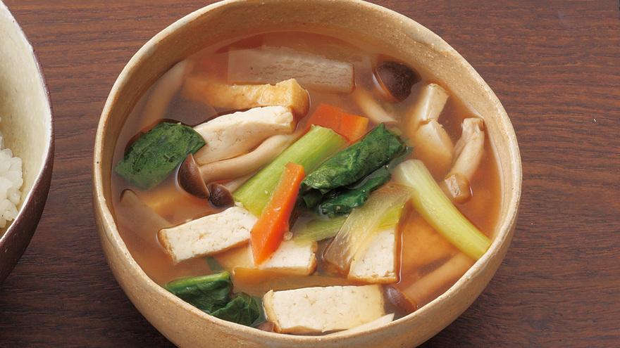 厚揚げと野菜の具だくさん汁 レシピ 牧野 直子さん|【みんなのきょうの料理】おいしいレシピや献立を探そう