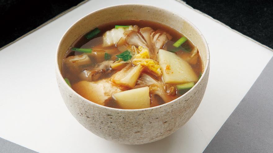 豆腐とボリューム野菜のキムチスープ レシピ 牧野 直子さん|【みんなのきょうの料理】おいしいレシピや献立を探そう