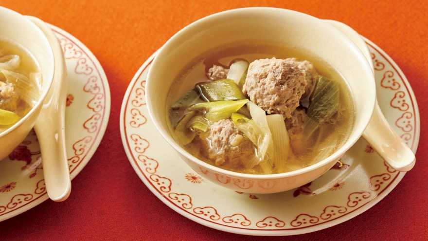 しょうが肉だんごとねぎのスープ レシピ 荻野 恭子さん