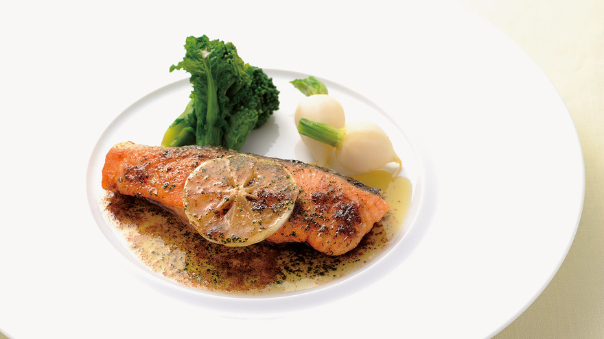 鮭(さけ)のムニエル レシピ 滝本 将博さん|【みんなのきょうの料理】おいしいレシピや献立を探そう