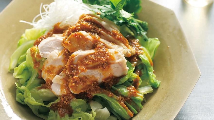 キャベツのザク切り蒸し よだれ鶏風 レシピ 藤井 恵さん|【みんなのきょうの料理】おいしいレシピや献立を探そう