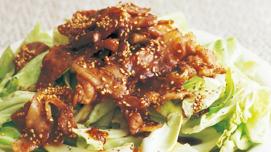 生キャベツの豚バラ甘辛ソース レシピ 舘野 鏡子さん|【みんなのきょうの料理】おいしいレシピや献立を探そう