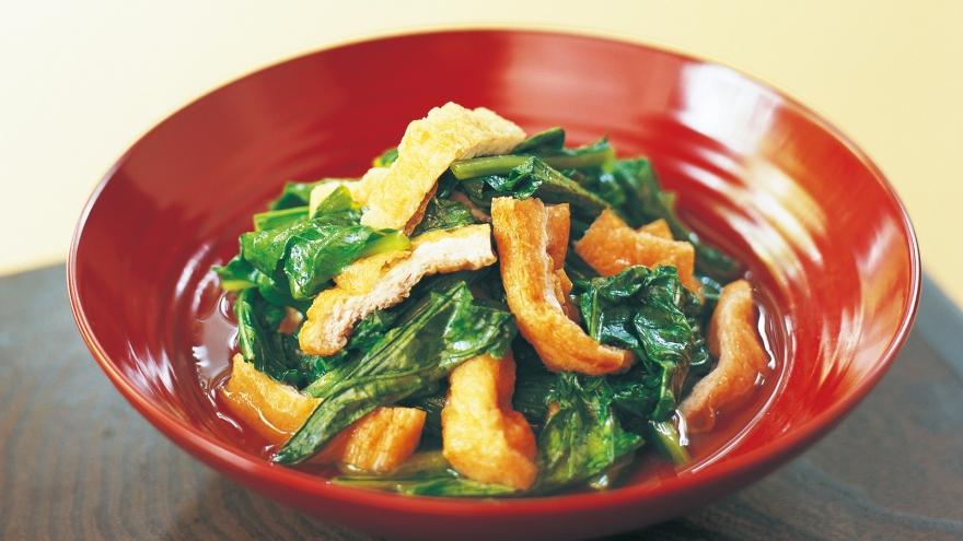 お揚げと菜っぱの炊いたん レシピ 杉本 節子さん 【みんなのきょうの料理】おいしいレシピや献立を探そう