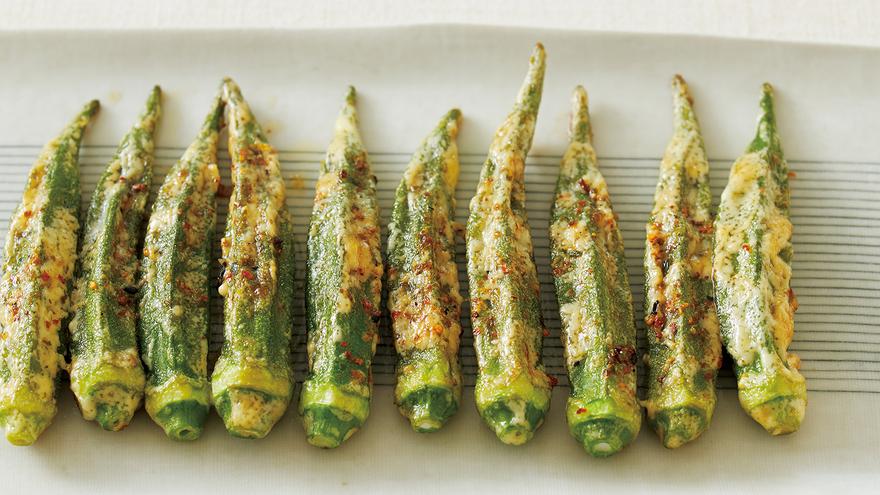 オクラのピリ辛マヨネーズ焼き レシピ 大庭 英子さん|【みんなのきょうの料理】おいしいレシピや献立を探そう