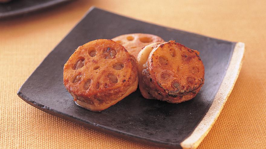れんこんのひき肉サンドソテー レシピ 高城 順子さん 【みんなのきょうの料理】おいしいレシピや献立を探そう