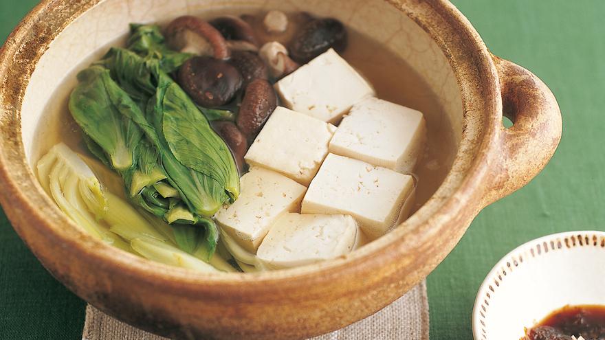 しいたけ、チンゲンサイ入り湯豆腐 レシピ 高城 順子さん