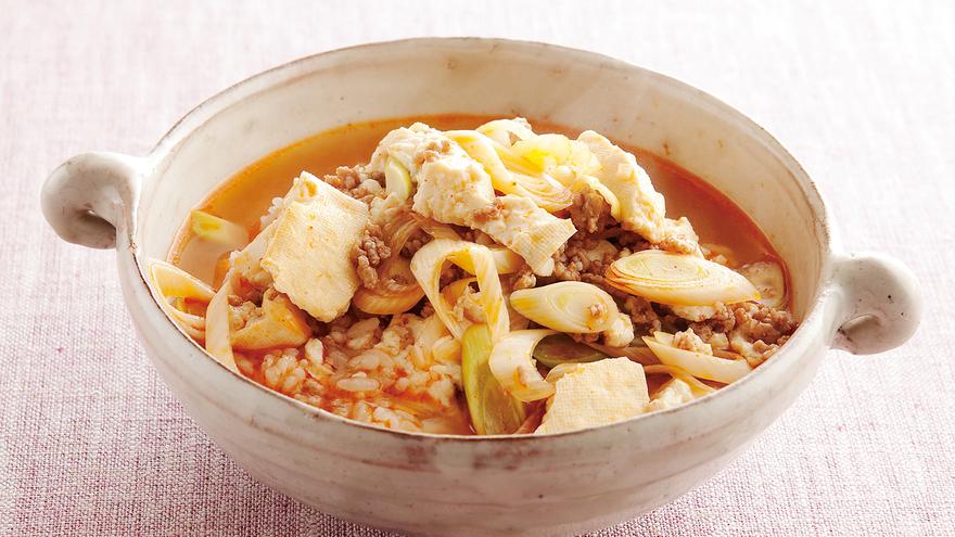 豆腐チゲ風スープかけご飯 レシピ 高城 順子さん|【みんなのきょうの料理】おいしいレシピや献立を探そう