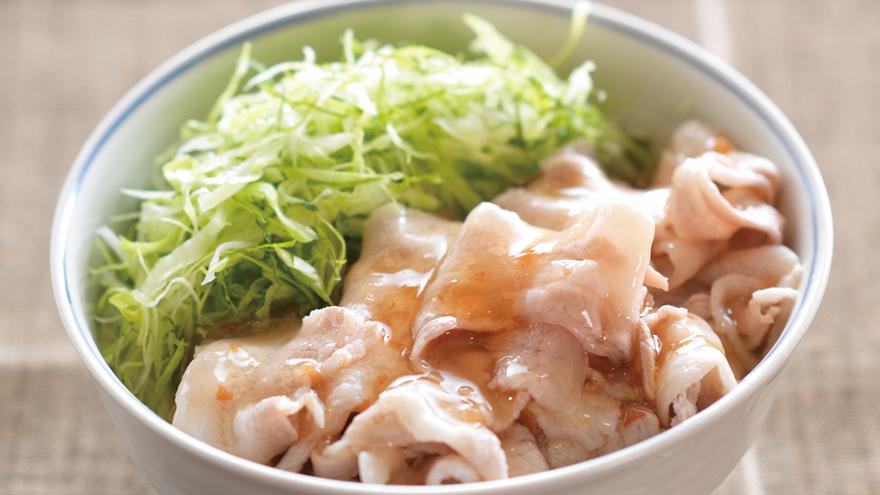 レタスと豚バラの梅あんかけ丼 レシピ 笠原 将弘さん|【みんなのきょうの料理】おいしいレシピや献立を探そう