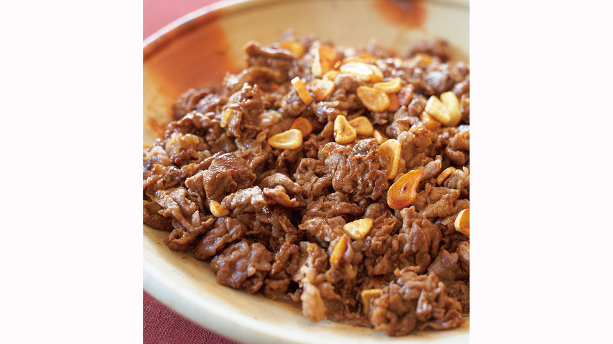 牛肉のガーリック・ウスター炒め レシピ 谷村 新司さん 【みんなのきょうの料理】おいしいレシピや献立を探そう