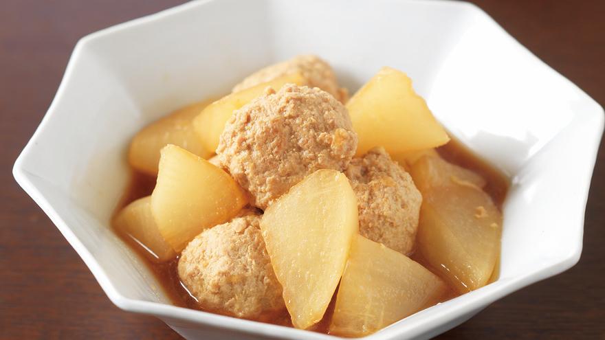大根と肉だんごのしょうゆ煮 レシピ 吉田 勝彦さん|【みんなのきょうの料理】おいしいレシピや献立を探そう