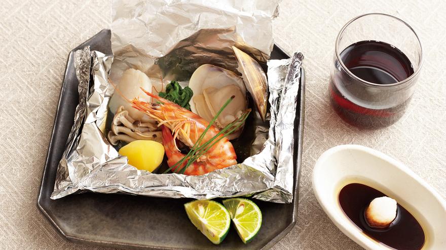 魚介のホイル蒸し レシピ 柳原 尚之さん|【みんなのきょうの料理】おいしいレシピや献立を探そう