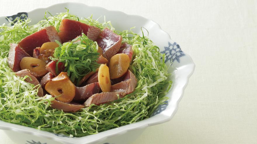 春キャベツとかつおのにんにく風味 レシピ 野崎 洋光さん 【みんなのきょうの料理】おいしいレシピや献立を探そう